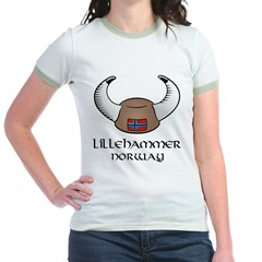 Lillihammer Norway Viking Hat Jr. Ringer T-Shirt