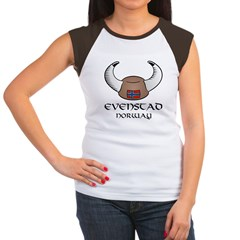 Evenstad Norway Viking Hat Women's Cap Sleeve T-Shirt