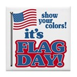 Flag Day Tile Coaster