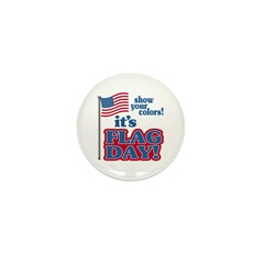 Flag Day Mini Button
