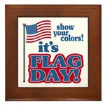 Flag Day Framed Tile