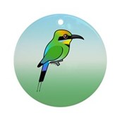 Rainbow Bee-eater Ornament (Round)