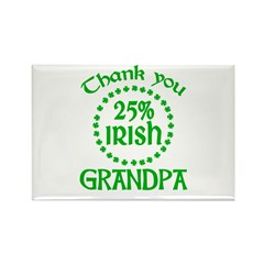 25% Irish - Thank You Grandpa Rectangle Magnet