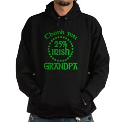 25% Irish - Thank You Grandpa Hoodie (dark)