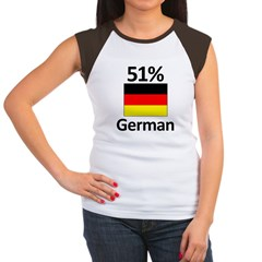 51% German Women's Cap Sleeve T-Shirt