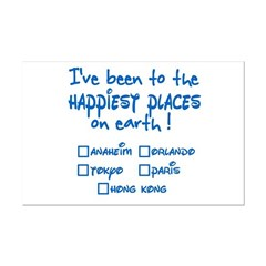 Happiest Places on Earth Mini Poster Print