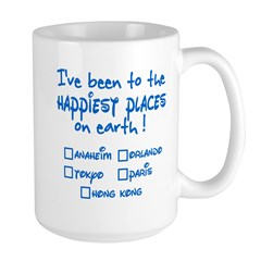 Happiest Places on Earth Large Mug