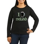 I Love Ireland (beer) Women's Long Sleeve Dark T-Shirt