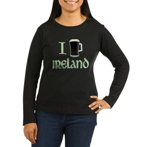 I Love Ireland (beer) Women's Long Sleeve Dark T-S
