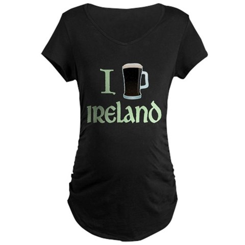 I Love Ireland (beer) Maternity Dark T-Shirt