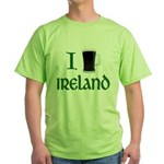 I Love Ireland (beer) Green T-Shirt