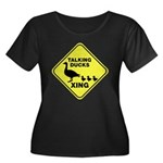 Talking Ducks Crossing Women's Plus Size Scoop Neck Dark T-Shirt