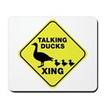 Talking Ducks Crossing Mousepad