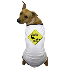 Talking Ducks Crossing Dog T-Shirt