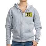 313 License Plate Women's Zip Hoodie