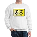 313 License Plate Sweatshirt