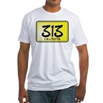 313 License Plate Fitted T-Shirt
