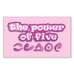 The Power of Five Sticker (Rectangle)