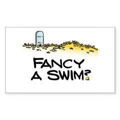 Fancy a Swim? Sticker (Rectangle)
