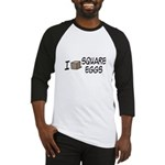 I Love Square Eggs Baseball Jersey
