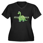 Stuffosaurus Logo Women's Plus Size V-Neck Dark T-Shirt