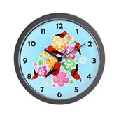  Hawaiian-style 'I'iwi Wall Clock