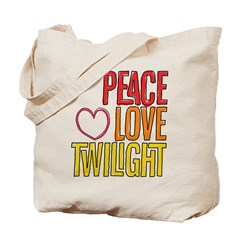 Peace, Love, Twilight Shirts Tote Bag