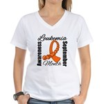 Leukemia Month Gemstone Women's V-Neck T-Shirt