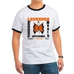 Leukemia Month Butterfly Ringer T