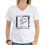 HodgkinsLymphomaAwarenessMonth Women's V-Neck T-Sh