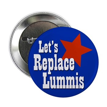 Let's Replace Lummis (Congressional Campaign Button against Rep. Cynthia Lummis of Wyoming, too timid and conservative for that wide-open state)