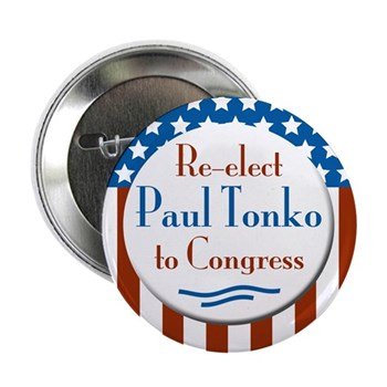 Re-Elect Paul Tonko congressional campaign button
