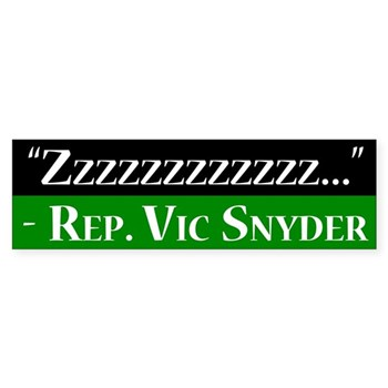 zzzzzzzz says the sleeping Vic Snyder.  Elect someone to Congress who can stay awake and do something!