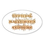 Official Halloween Costume Oval Sticker (Oval)