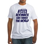 A Boombox Can Change the World Fitted T-Shirt