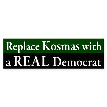 Replace Kosmas with a REAL Democrat bumper sticker