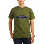 this is my bartender costume Organic Men's T-Shirt (dark)
