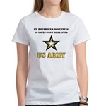 Army Boyfriend Serving Women's T-Shirt
