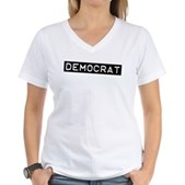 Democrat Label Women's V-Neck T-Shirt