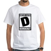 Content Rated Democrat White T-Shirt