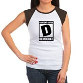 Content Rated Democrat Women's Cap Sleeve T-Shirt