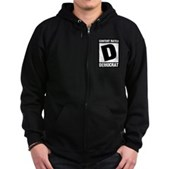 Content Rated Democrat Zip Hoodie (dark)