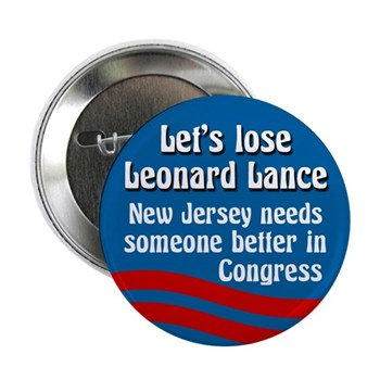 Let's Lose Leonard Lance New Jersey Congressional Campaign Button
