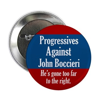 Progressives Against John Boccieri Ohio political campaign button