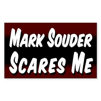 Mark Souder Scares Me Bumper Sticker for the Indiana Congressional Campaign