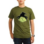 Happy Green Witch Organic Men's T-Shirt (dark)