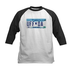 Uffda License Plate Shop Kids Baseball Jersey