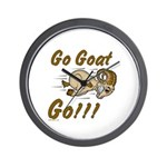 Go Goat Go Wall Clock