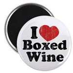 I Heart Boxed Wine Magnet