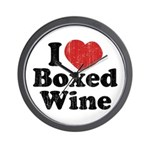 I Heart Boxed Wine Wall Clock